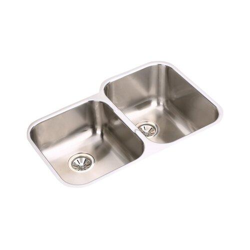 "Elkay Gourmet 31.25"" x 20.5"" Double Bowls Left Side Kitchen Sink"