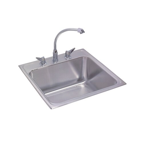 "Elkay Gourmet 17"" x 22"" Kitchen Sink with Faucet"