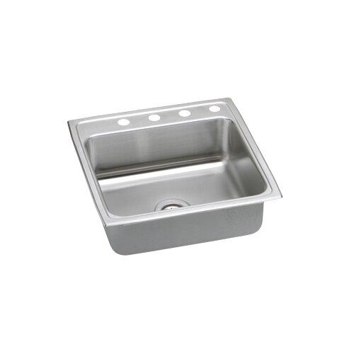 "Elkay Gourmet 22"" x 22"" x 7.63"" Lustertone Kitchen Sink"