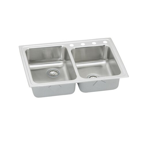 "Elkay Gourmet 33"" x 22"" x 7.88"" Lustertone Kitchen Sink"