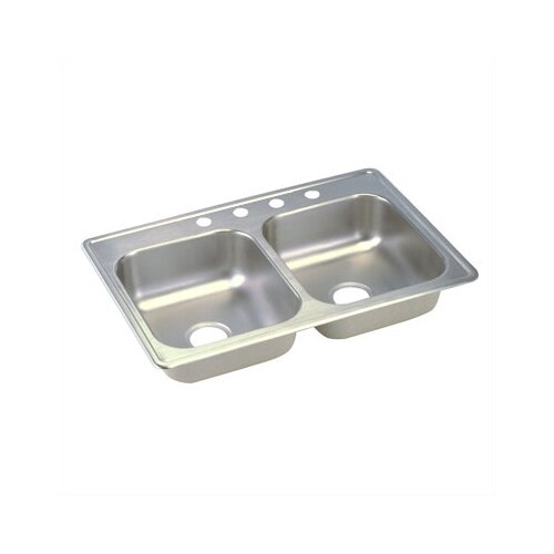 "Elkay Dayton 33"" x 21.25"" Top Mount Double Kitchen Sink"