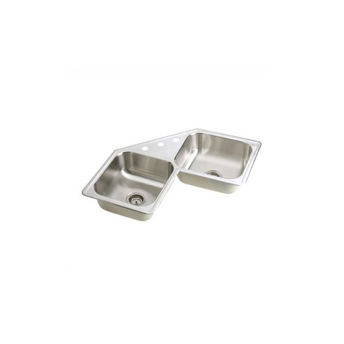"Elkay Dayton 31.88"" x 31.88"" Elite Top Mount Corner Kitchen Sink"