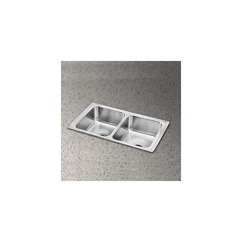 "Elkay Pacemaker 33"" x 19.5"" Pacemaker Double Bowl Kitchen Sink"