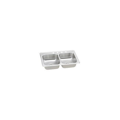 "Elkay Gourmet 43"" x 22"" Top Mount Kitchen Sink"
