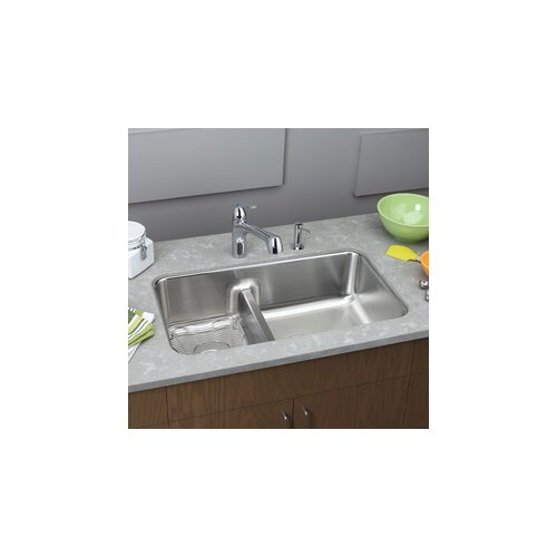 "Elkay Gourmet 32.06"" x 18.5"" Undermount Kitchen Sink"