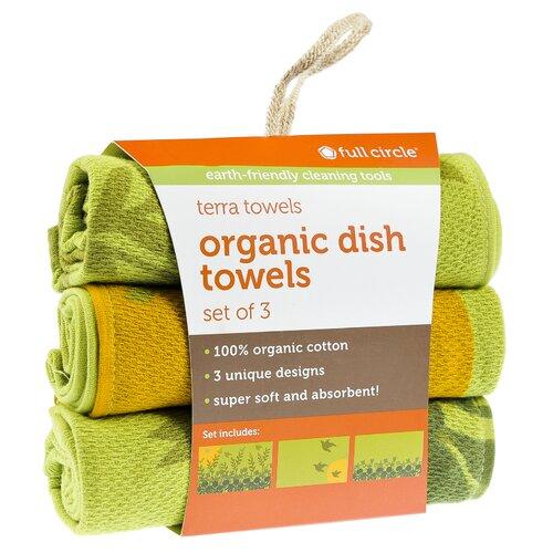 Morning Bloom Organic Cotton Dish Towel (Set of 3)
