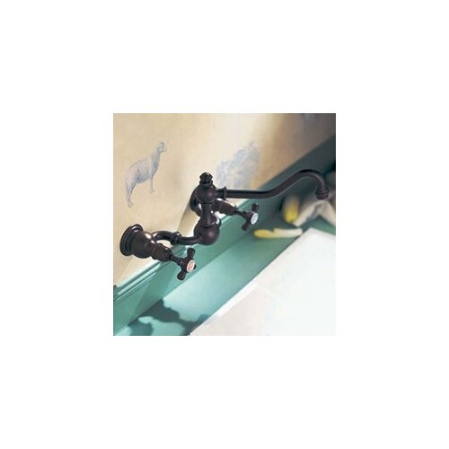 Royale Wall Mounted Bathroom Faucet with Double Cross Handles