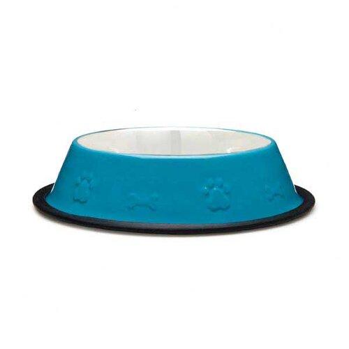 Embossed Non-Skid Dog Bowl