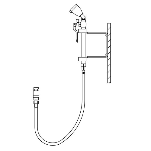Speakman Eyesaver Faucet Eyewash / Drench Hose Attachment for Utility Sinks