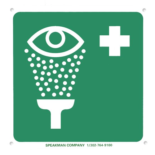 Speakman Emergency Eyewash Sign