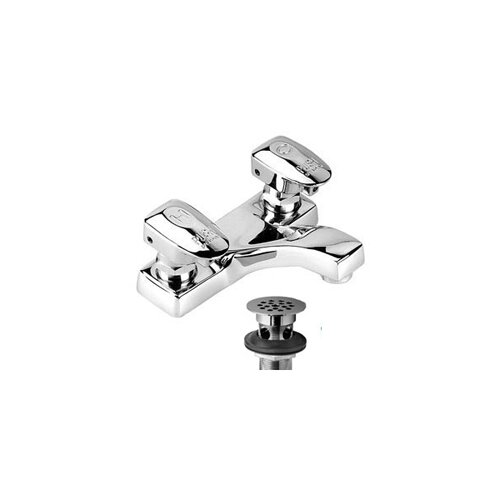 Easy-Push Centerset Metering Faucet with Push Handle