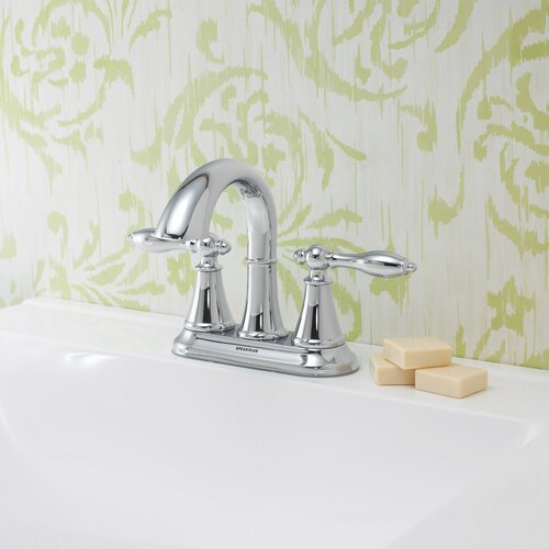 Lacey Double Handle Centerset Bathroom Faucet with Pop-Up Drain