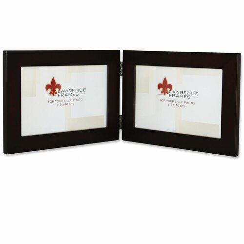 Lawrence Frames Wood Hinged Double Picture Frame