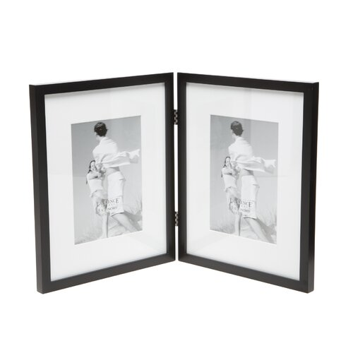 Contemporary Hinged Double Picture Frame
