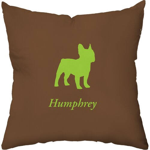 Personalized French Bulldog Polyester Throw Pillow