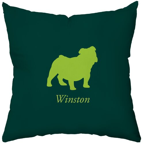 Personalized Bulldog Polyester Throw Pillow