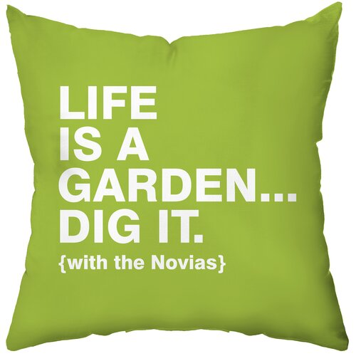 Personalized Dig It Polyester Throw Pillow