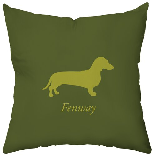 Personalized Dachshund Polyester Throw Pillow