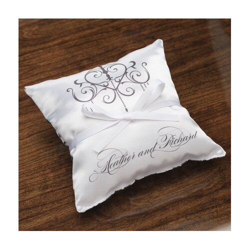 Personalized Harmony Satin Ring Pillow