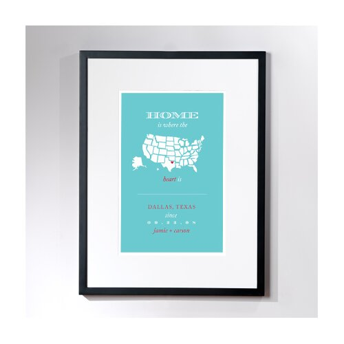 Personalized Dallas Home Framed Graphic Art