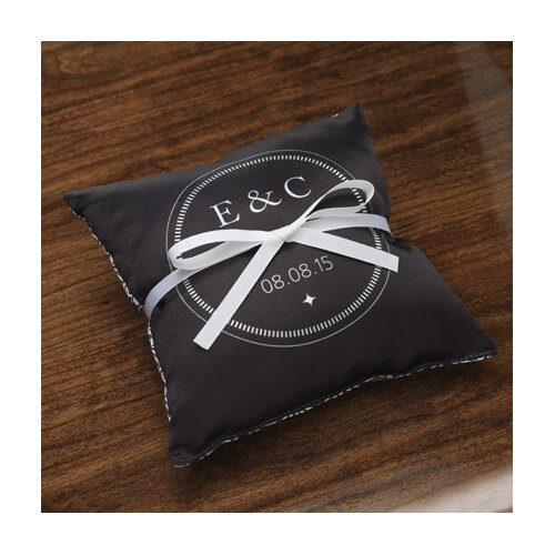 Personalized Balance Satin Ring Pillow