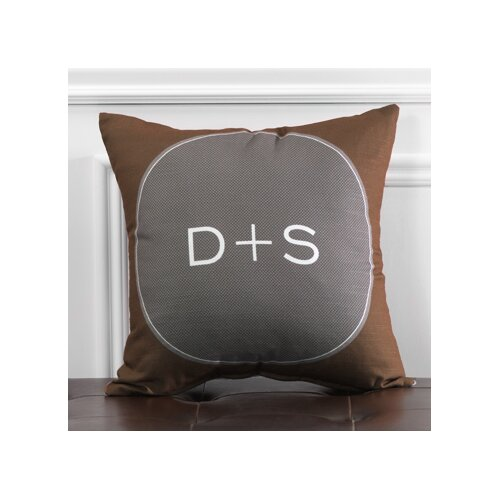 Personalized Scrolled Poly Cotton Throw Pillow