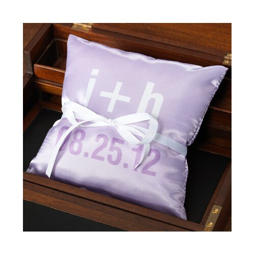 Personalized Moderna Ring Pillow