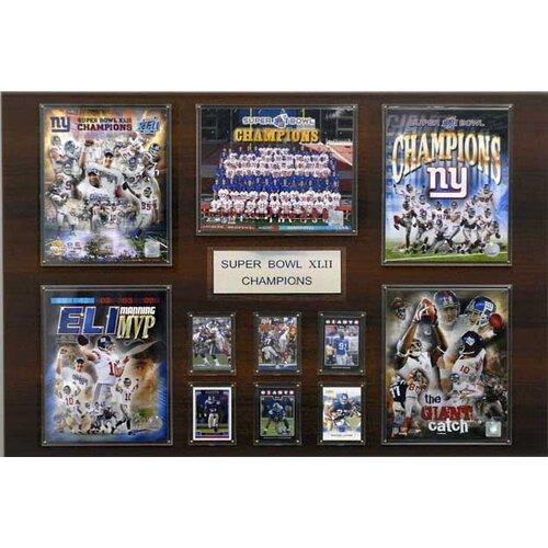 C & I Collectibles NFL New York Giants Super Bowl XLII Champions Plaque