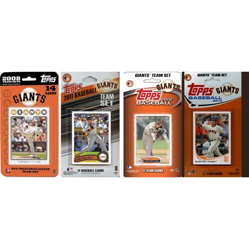 C & I Collectibles MLB Different Licensed Trading Card Team Sets