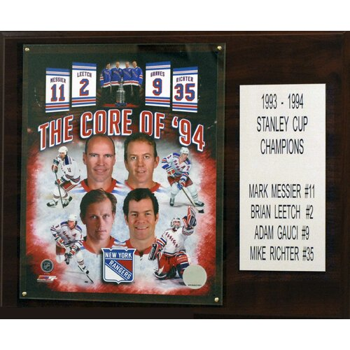 C & I Collectibles NHL Core Four New York Rangers Player Framed Memorabilia Plaque
