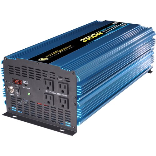 Power Bright 12V DC to 110V AC 3500W Power Inverter