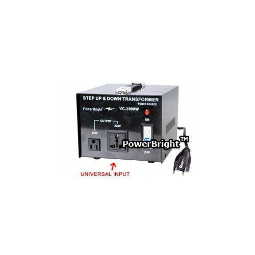 Power Bright 2000W Step Up / Down Voltage Transformer