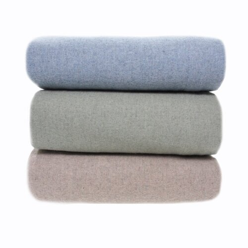 Heather Ground Flannel Solid Cotton Sheet Set