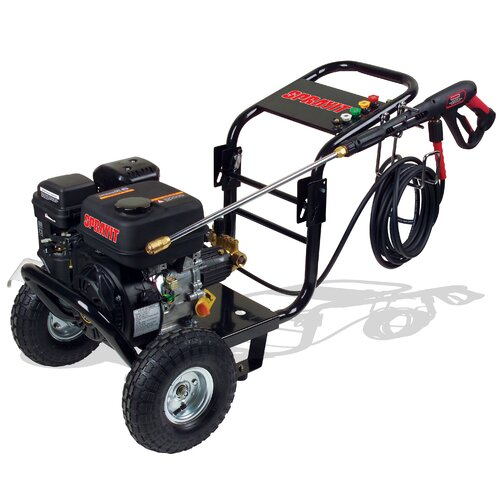 Portable Gasoline Cold Water Pressure Washer with 2500 PSI / 2.4 GPM / 7 HP ...