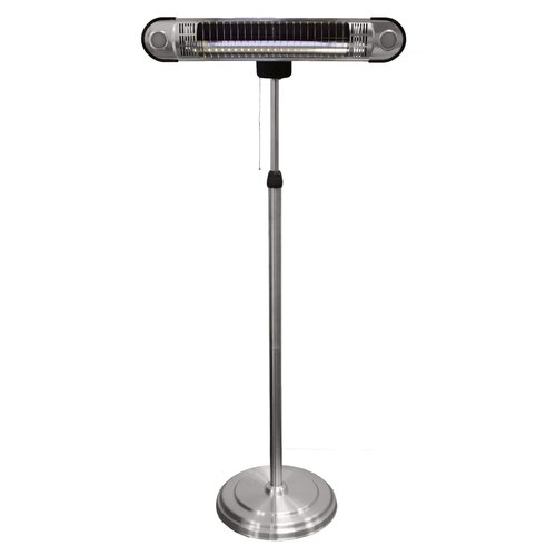Tall Adjustable Electric Infrared Heat Lamp with Led Lights