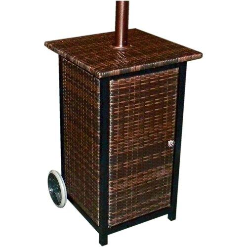 AZ Patio Heaters Tall Square Propane Patio Heater with Wheels