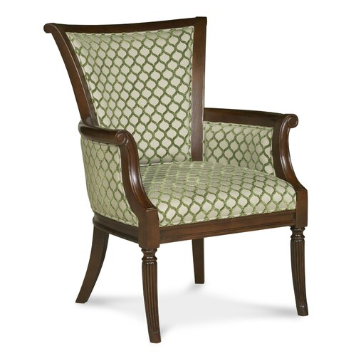 Traditional Trimmed Wingback Chair
