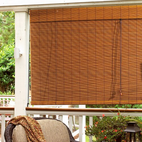 Radiance imperial matchstick bamboo roll up blind with 6 quot valance in