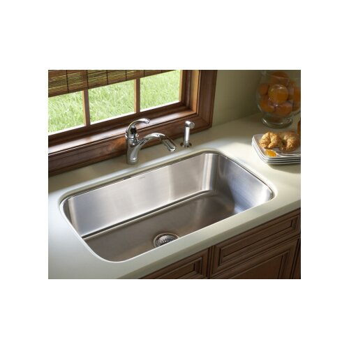 "Sterling by Kohler McAllister 31.88"" x 18.06"" Undermount Single Bowl Kitchen Sink"