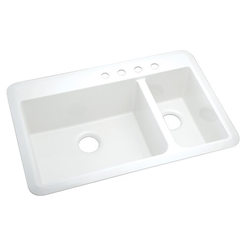 "Sterling by Kohler Vikrell Slope 33"" x 22"" Undermount/Self Rimming Double Bowl Kitchen Sink"