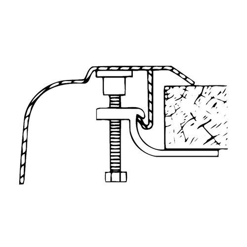 Sterling by Kohler Sink Clips for J-Channel Installation (Pack of 10)