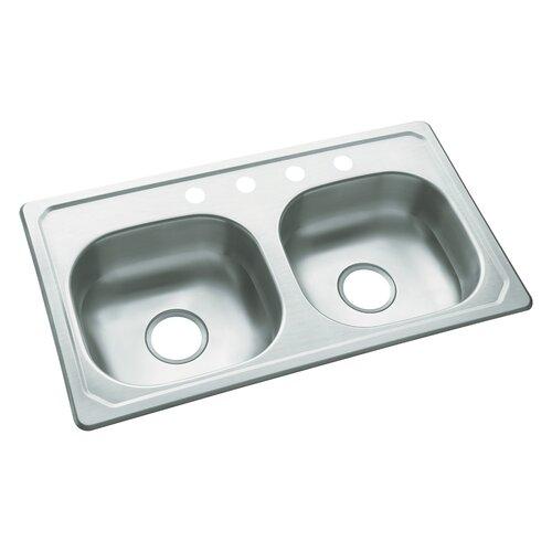 "Sterling by Kohler Southhaven 33"" x 19"" Self Rimming Single Bowl Kitchen Sink"