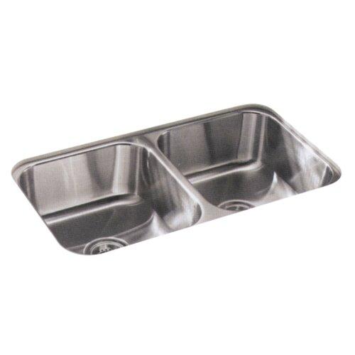 "Sterling by Kohler McAllister 32"" x 18"" Undermount Double Bowl Kitchen Sink"