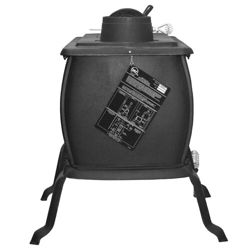 United States Stove Company Large Cast Iron Logwood Stove