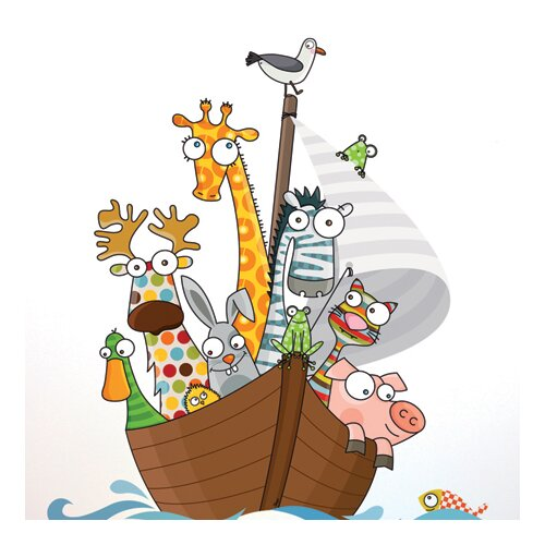 ADZif Ludo Funny Ship's Boys Wall Sticker