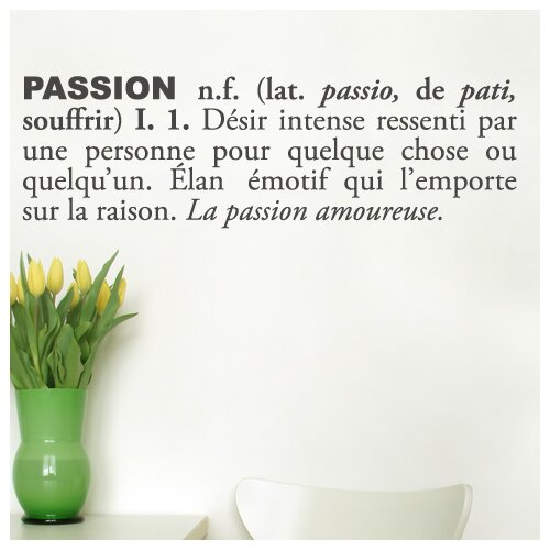 ADZif Blabla Passion (French) Wall Decal