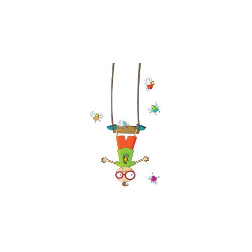 ADZif Ludo Swing Boy Wall Decal