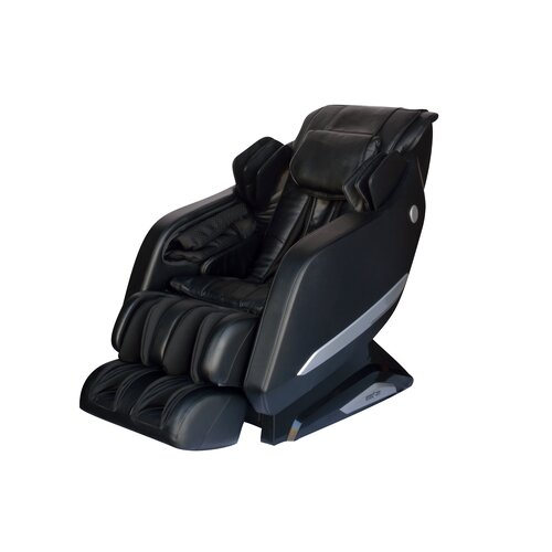 faux leather reclining zero gravity massage chair wayfair