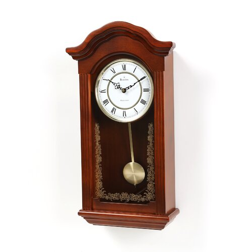 Bulova baronet pendulum wall clock reviews wayfair for Bulova pendulum wall clock