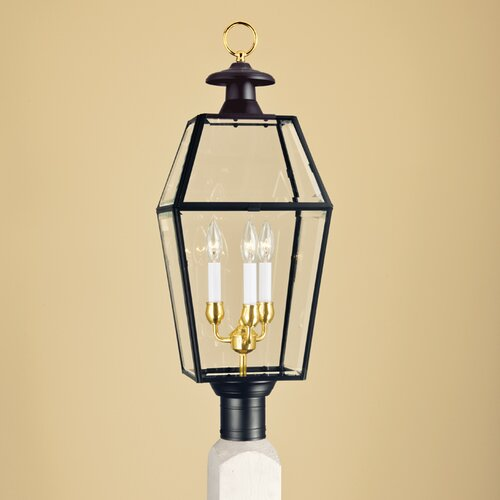 Norwell Lighting Olde Colony 3 Light Outdoor Post Lantern
